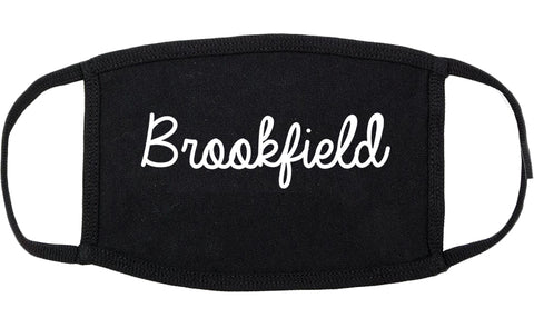 Brookfield Wisconsin WI Script Cotton Face Mask Black