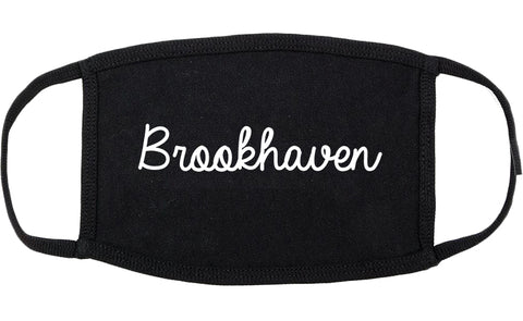 Brookhaven Pennsylvania PA Script Cotton Face Mask Black