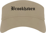 Brookhaven Pennsylvania PA Old English Mens Visor Cap Hat Khaki