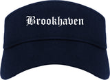 Brookhaven Pennsylvania PA Old English Mens Visor Cap Hat Navy Blue