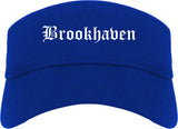 Brookhaven Pennsylvania PA Old English Mens Visor Cap Hat Royal Blue