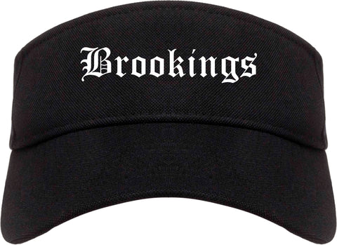 Brookings South Dakota SD Old English Mens Visor Cap Hat Black
