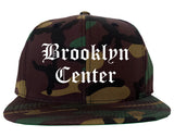 Brooklyn Center Minnesota MN Old English Mens Snapback Hat Army Camo