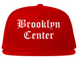 Brooklyn Center Minnesota MN Old English Mens Snapback Hat Red