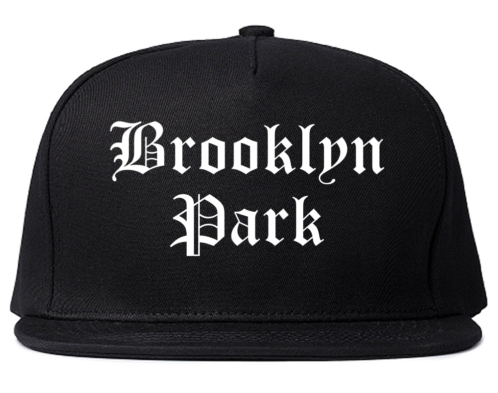 Brooklyn Park Minnesota MN Old English Mens Snapback Hat Black