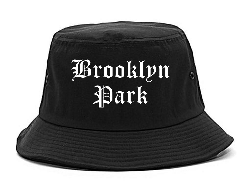 Brooklyn Park Minnesota MN Old English Mens Bucket Hat Black