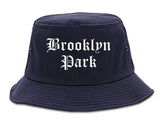 Brooklyn Park Minnesota MN Old English Mens Bucket Hat Navy Blue