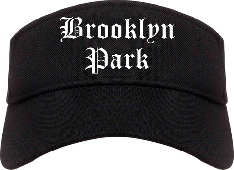 Brooklyn Park Minnesota MN Old English Mens Visor Cap Hat Black
