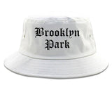 Brooklyn Park Minnesota MN Old English Mens Bucket Hat White