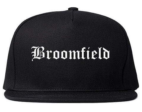 Broomfield Colorado CO Old English Mens Snapback Hat Black