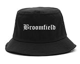 Broomfield Colorado CO Old English Mens Bucket Hat Black
