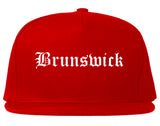 Brunswick Georgia GA Old English Mens Snapback Hat Red