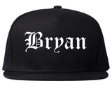 Bryan Ohio OH Old English Mens Snapback Hat Black