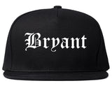 Bryant Arkansas AR Old English Mens Snapback Hat Black