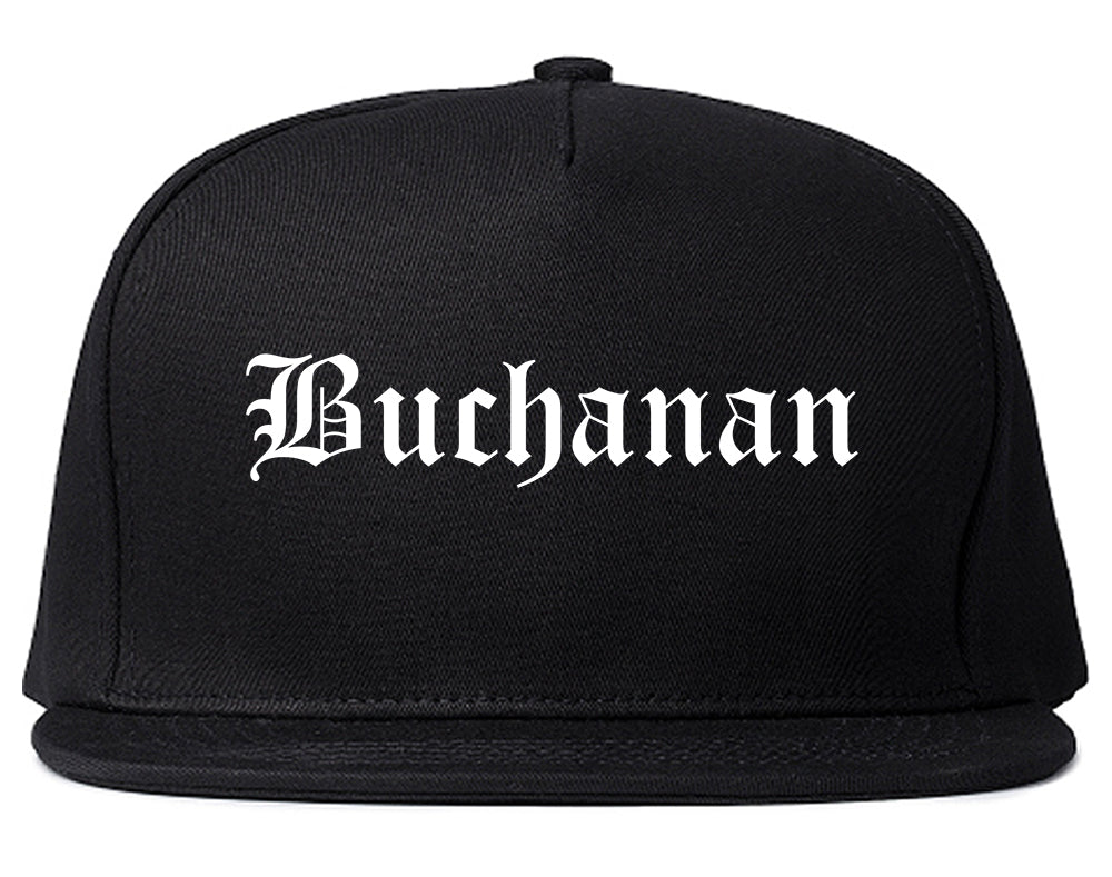 Buchanan Michigan MI Old English Mens Snapback Hat Black