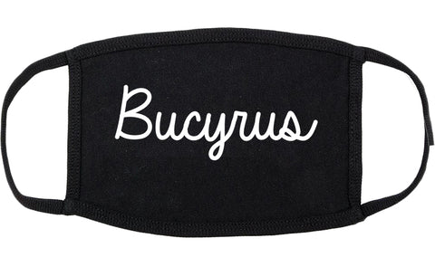 Bucyrus Ohio OH Script Cotton Face Mask Black