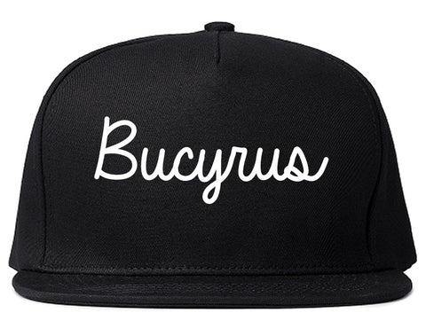Bucyrus Ohio OH Script Mens Snapback Hat Black