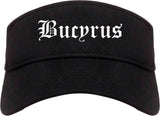 Bucyrus Ohio OH Old English Mens Visor Cap Hat Black