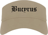 Bucyrus Ohio OH Old English Mens Visor Cap Hat Khaki