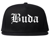 Buda Texas TX Old English Mens Snapback Hat Black