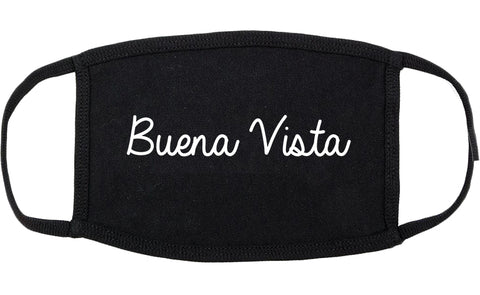 Buena Vista Virginia VA Script Cotton Face Mask Black