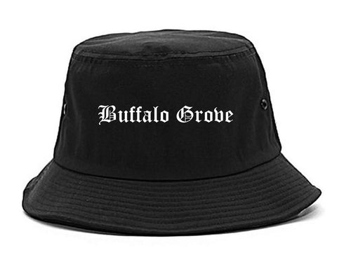 Buffalo Grove Illinois IL Old English Mens Bucket Hat Black