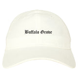 Buffalo Grove Illinois IL Old English Mens Dad Hat Baseball Cap White