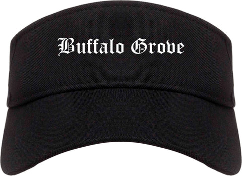Buffalo Grove Illinois IL Old English Mens Visor Cap Hat Black