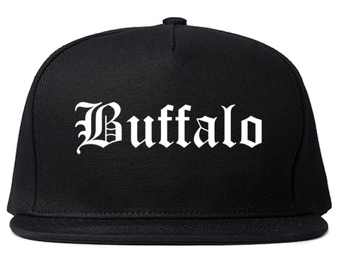 Buffalo New York NY Old English Mens Snapback Hat Black