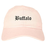 Buffalo New York NY Old English Mens Dad Hat Baseball Cap Pink