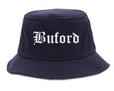 Buford Georgia GA Old English Mens Bucket Hat Navy Blue