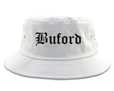 Buford Georgia GA Old English Mens Bucket Hat White