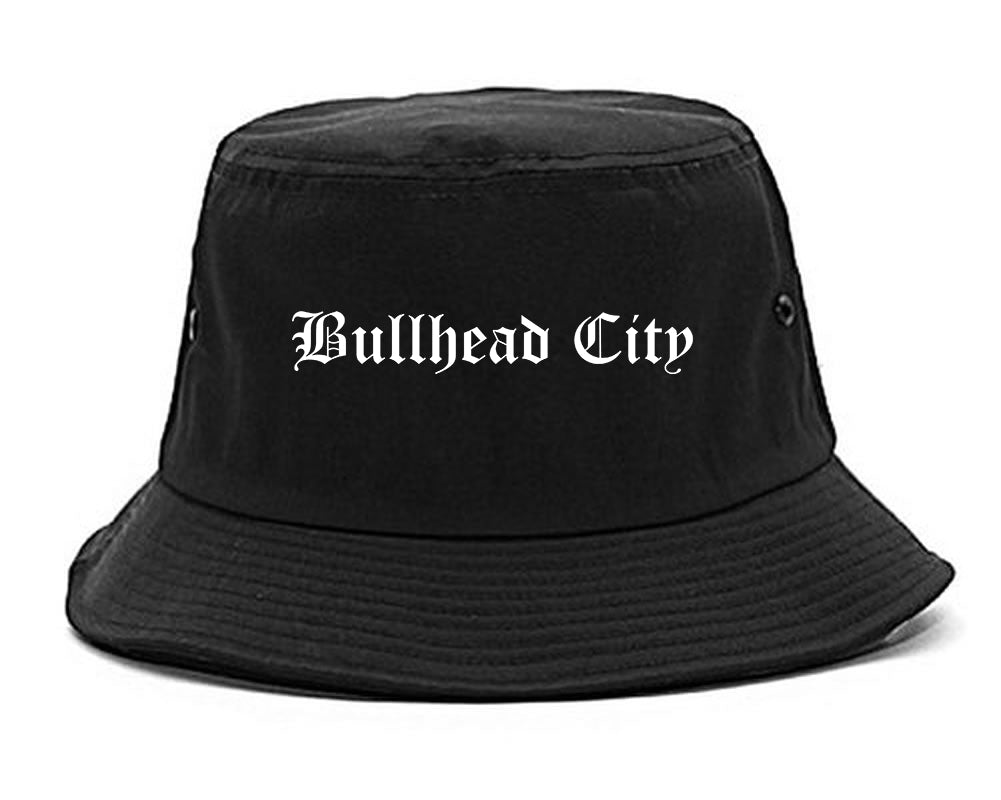 Bullhead City Arizona AZ Old English Mens Bucket Hat Black