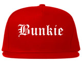 Bunkie Louisiana LA Old English Mens Snapback Hat Red