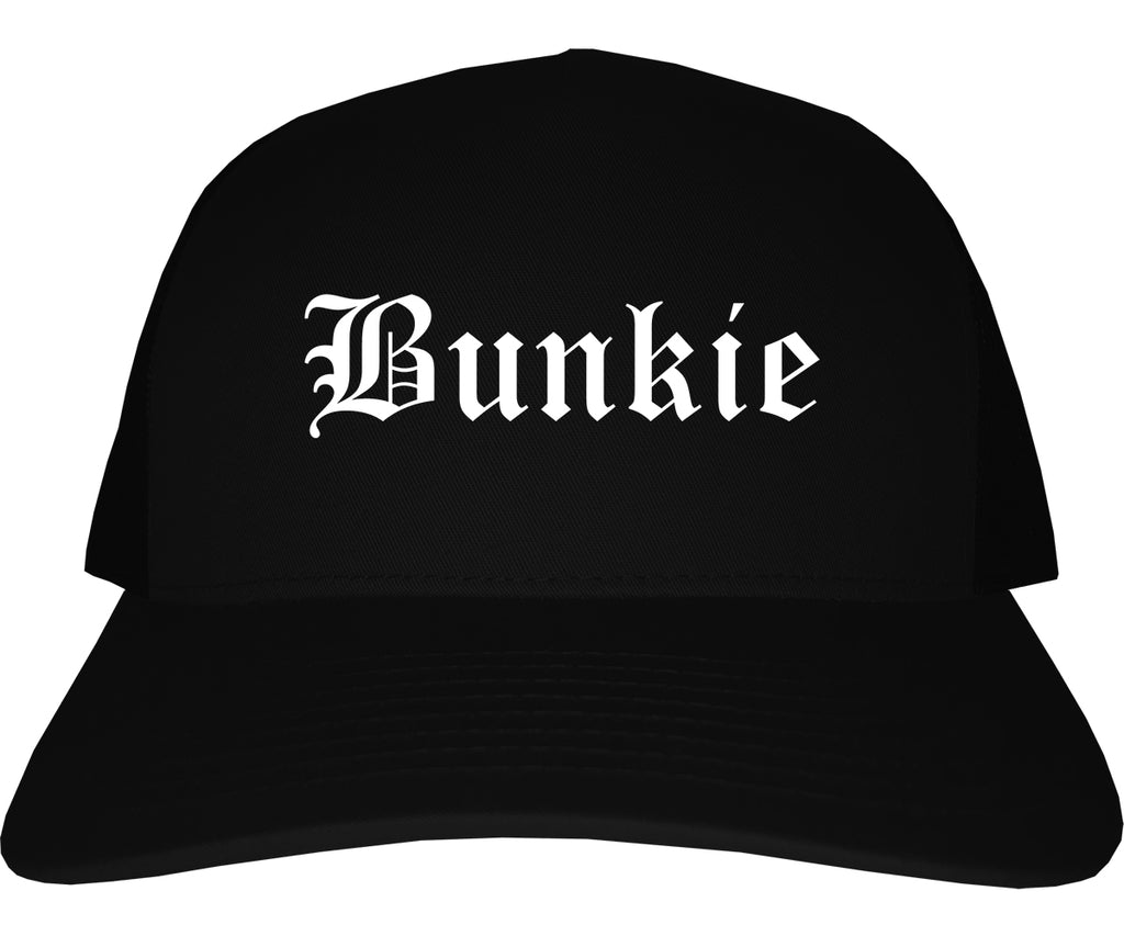 Bunkie Louisiana LA Old English Mens Trucker Hat Cap Black