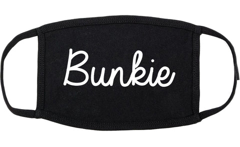 Bunkie Louisiana LA Script Cotton Face Mask Black