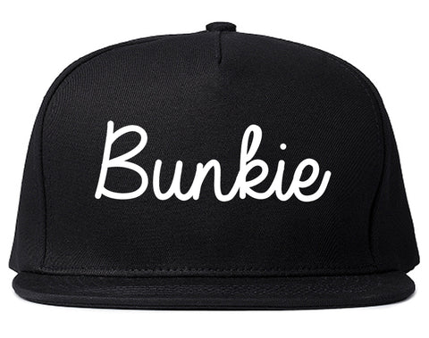 Bunkie Louisiana LA Script Mens Snapback Hat Black