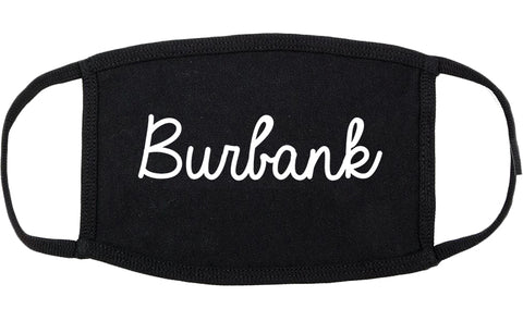 Burbank Illinois IL Script Cotton Face Mask Black