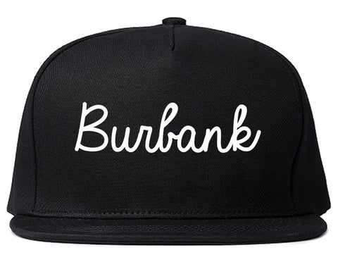 Burbank Illinois IL Script Mens Snapback Hat Black