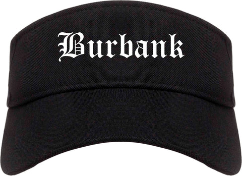 Burbank Illinois IL Old English Mens Visor Cap Hat Black
