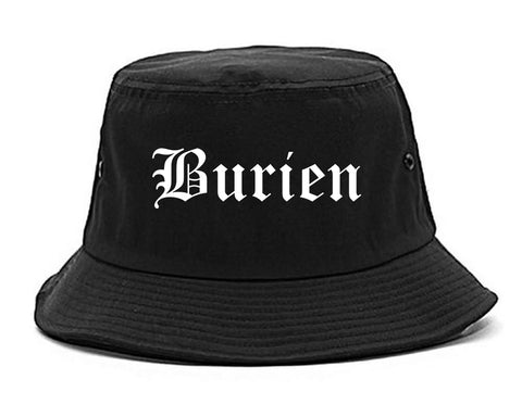 Burien Washington WA Old English Mens Bucket Hat Black