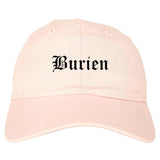 Burien Washington WA Old English Mens Dad Hat Baseball Cap Pink