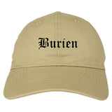 Burien Washington WA Old English Mens Dad Hat Baseball Cap Tan