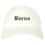 Burien Washington WA Old English Mens Dad Hat Baseball Cap White