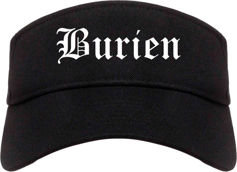 Burien Washington WA Old English Mens Visor Cap Hat Black