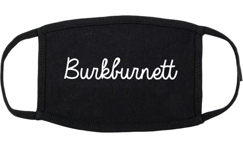 Burkburnett Texas TX Script Cotton Face Mask Black