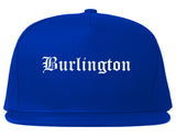 Burlington Washington WA Old English Mens Snapback Hat Royal Blue