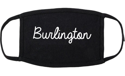 Burlington Washington WA Script Cotton Face Mask Black