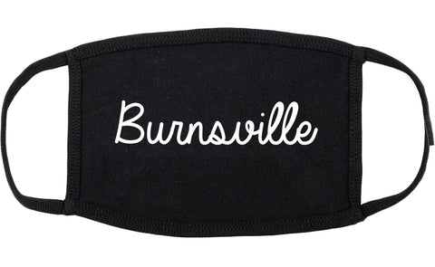 Burnsville Minnesota MN Script Cotton Face Mask Black