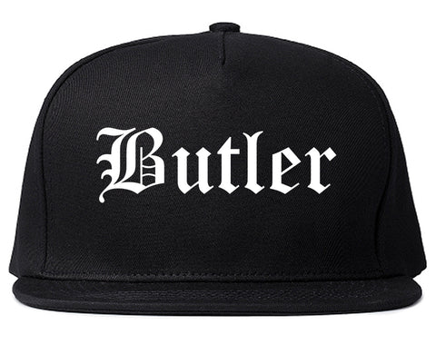 Butler New Jersey NJ Old English Mens Snapback Hat Black